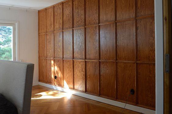 Hemma med Helena fondvägg plywood lister sovrum – Husligheter