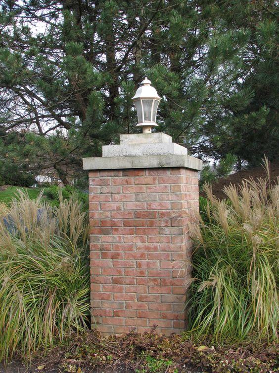 Driveway entrance column residential design pinterest