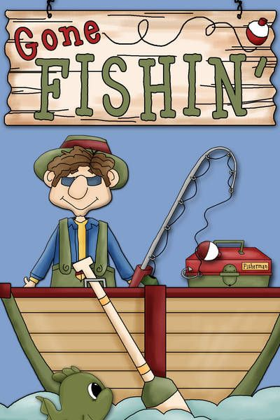 Card Making World Ideas Gallery Gone Fishing Clip