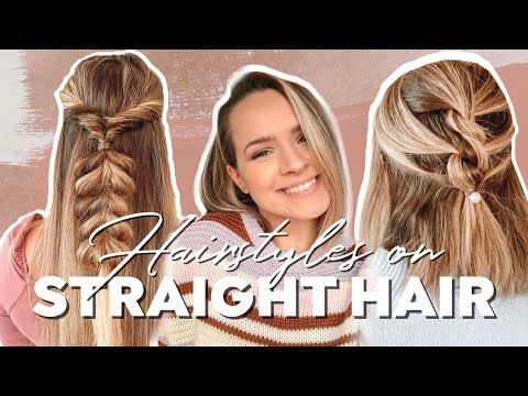 Hairstyles For Straight Hair Heatless Hairstyles Kayley Melissa Youtube In 2020 Straight Hairstyles Heatless Hairstyles Hair Styles