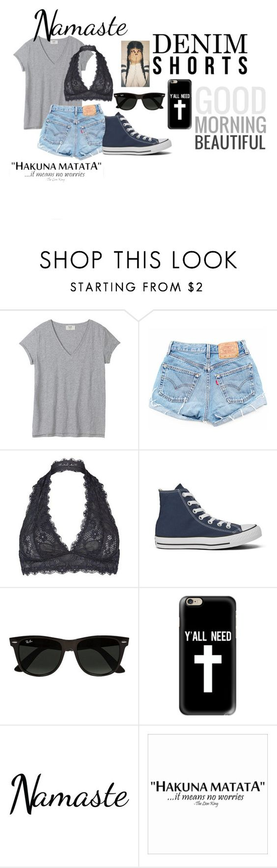 """""""Untitled #180"""" by niyah-paris ❤ liked on Polyvore featuring Free People, Converse, Ray-Ban and Casetify"""