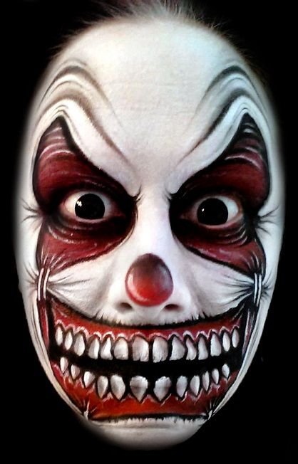 Scary Clown Face Paint Ideas Painted By Catherine Pannulla Inspired
