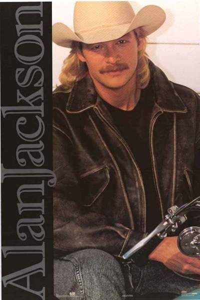 Alan Jackson 1992 Portrait Poster 23x35 Jackson Country Music