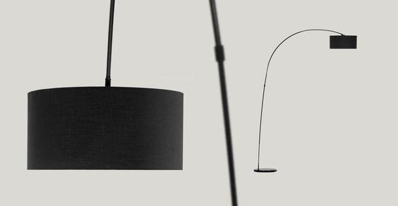 Arche Stehlampe, Schwarz