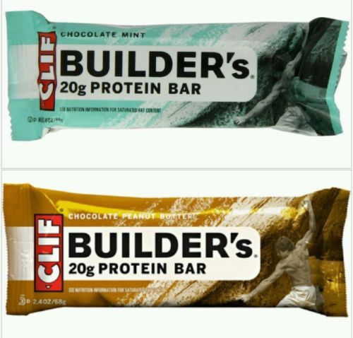 CLIF Builders Protein Bars (18 Bars) 2.4oz each Chocolate Mint & Chocolate PB