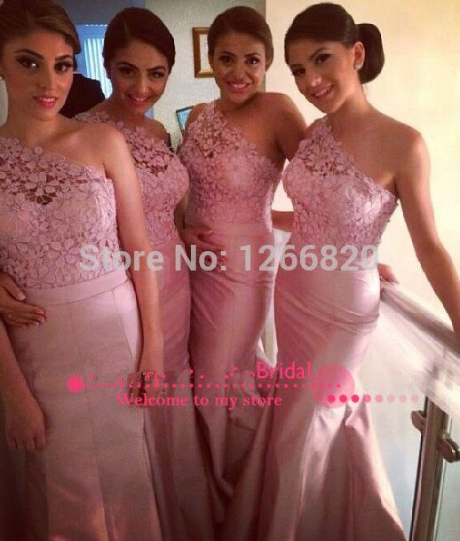 Find More Vestidos de Damas de Honor Information about 2014 nuevo diseñador un hombro de encaje sin mangas y vestidos de satén dama vestido de gala sirena,High Quality dresses gowns uk,China gown design Suppliers, Cheap dress with net sleeves from Sao Tome Garments Co., Ltd. on Aliexpress.com