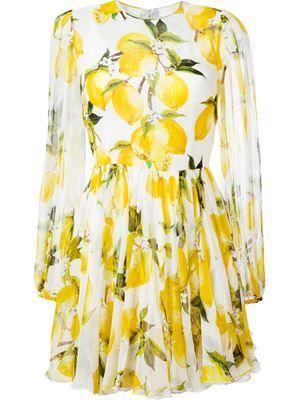 платье с принтом лемонов