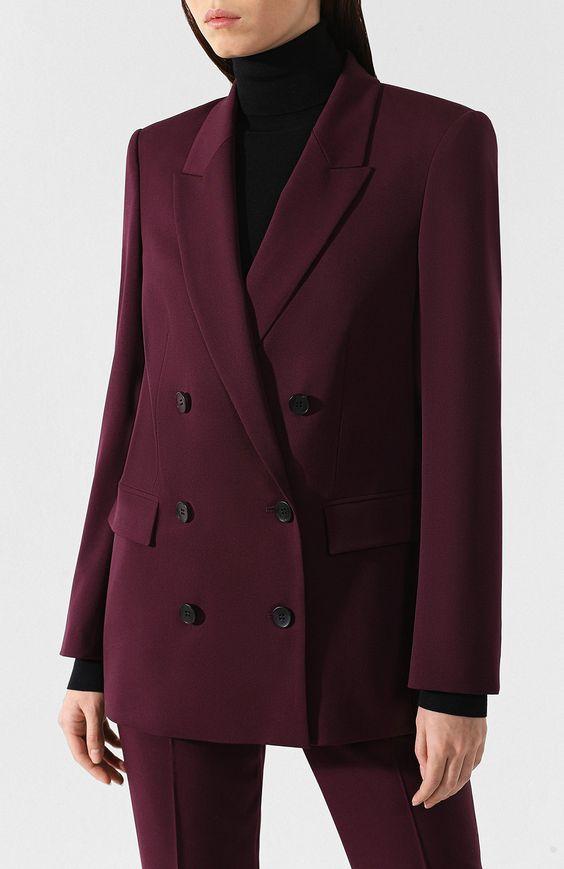 Женский бордовый шерстяной жакет BOSS — купить за 35500 руб. в интернет-магазине ЦУМ, арт. 50401561