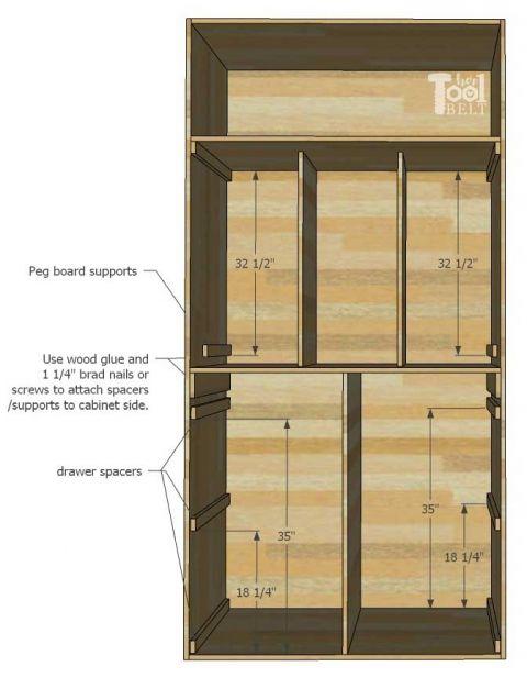 Garage Hand Tool Storage Cabinet Plans Diy And Crafts