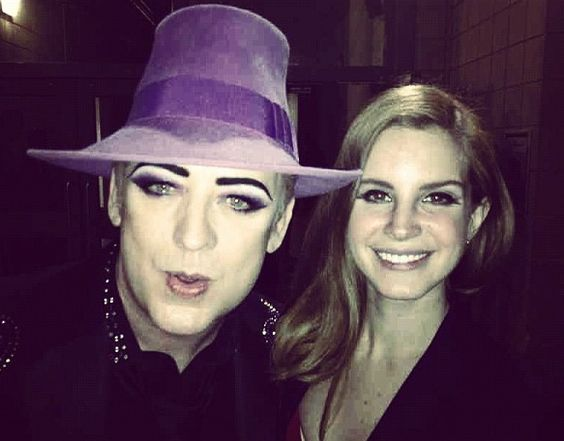 Boy George And Lana Del Rey Hang Out.