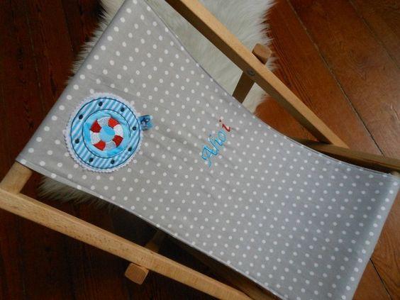 Liegestuhl für Kinder  Aho`i :: maritim  von Fraujottpunkt  auf DaWanda.com