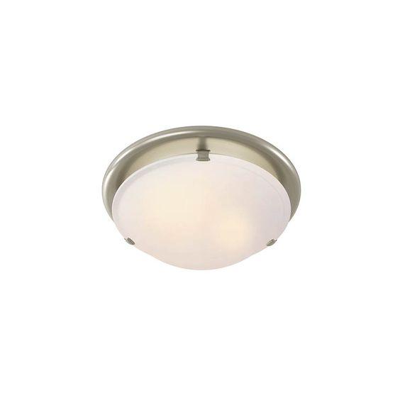 Shop Broan 2.5-Sone 80-CFM Brushed Nickel Bathroom Fan with Light - 2 lights - $104.23