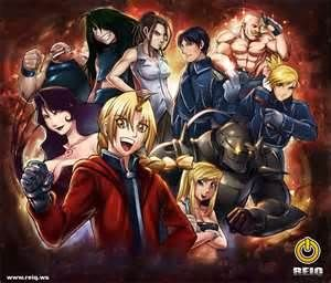 The whole gang of Fullmetal Alchemist!