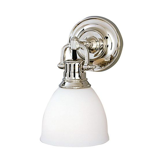 Hudson Valley Pelham Polished Nickel One-Light Sconce (1,125 ILS) ❤ liked on Polyvore featuring home, lighting, wall lights, clip light, polished nickel light, hudson valley lighting sconces, polished nickel lighting and polished nickel sconce