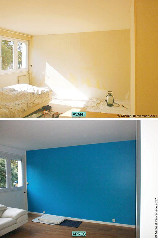Dépose de papier-peint et préparation des murs pour mise en peinture - peinture pour plafond fissure