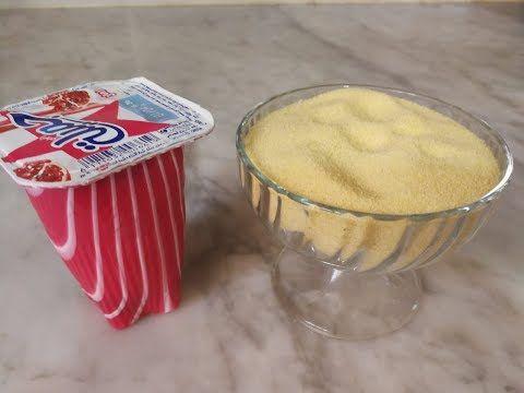 عندك كأس سميد وكأس من رايبي أجي نوجدو أسهل وألذ حلوة في 10دقائق Youtube Food Desserts Breakfast
