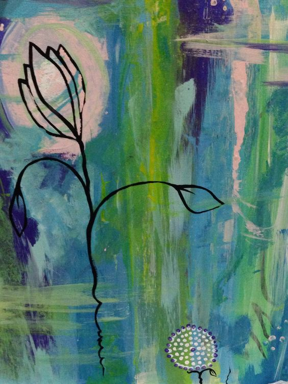 Being more bold and intuitive #art #abstract #flower #paint
