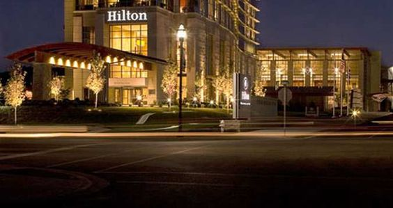 Hilton Branson Convention Center Hotel Mo Exterior Night Pinterest Centre Pet Friendly Hotels And Stunning View