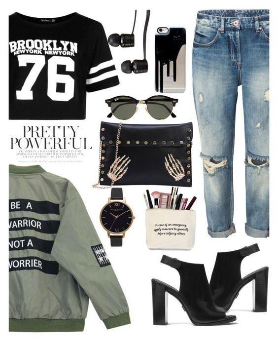 """Brooklyn Babe"" by ellefairy ❤ liked on Polyvore featuring Michael Kors, Chicnova Fashion, Boohoo, Vans, Ray-Ban and Olivia Burton"