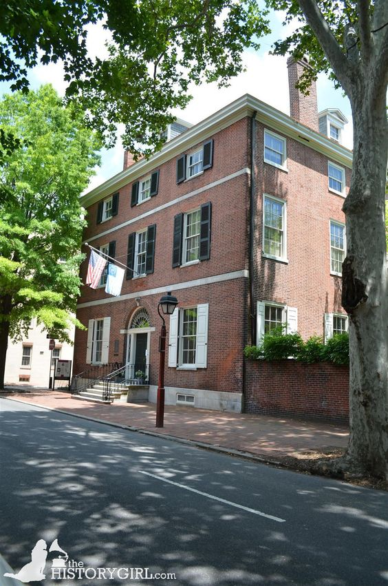 """The Hill-Keith-Physick House built in 1786 in Philadelphia, #Pennsylvania by wealthy Madeira wine importer Henry Hill. It was the home of Philip Syng Physick (1768-1837), who has been called """"the father of American surgery,"""" from 1815 until his death in 1837. In the late 1960s, the house was restored and donated to the Philadelphia Society for the Preservation of Landmarks. Today it serves as a house museum. Discover more history @ www.thehistorygirl.com"""