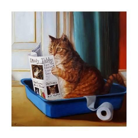 Art Print: Kitty Throne by Lucia Heffernan : 16x16in