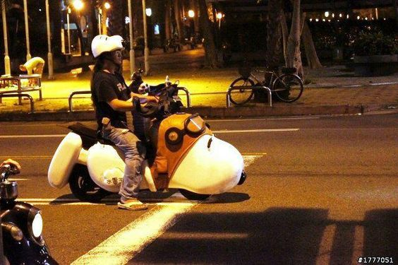 Snoopy motorcycle