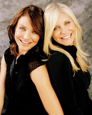 Cameron Diaz and sister