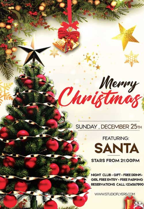 Check Out The Christmas Day Party Free Flyer Template Only On Https Freepsdflyer Com Free Christmas Flyer Templates Christmas Flyer Template Christmas Flyer