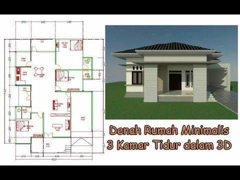 rumah sederhana 3 kamar di kampung - desain rumah