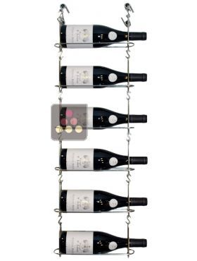 support mural de 6 bouteilles chain my wine aci cmw100 chez moi pinterest vin. Black Bedroom Furniture Sets. Home Design Ideas