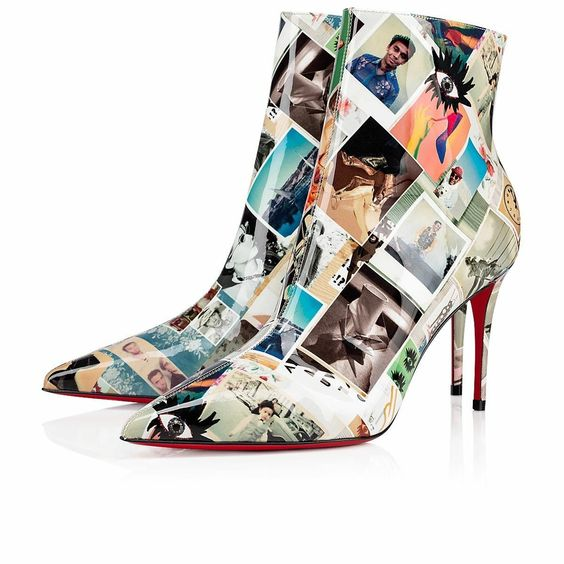 Christian Louboutin So Kate Collage Patent Bootie - $ 985.00