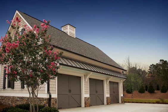 Three Car Garage – Madison Model, Lake Haven of Crabapple – via Edward Andrews Homes
