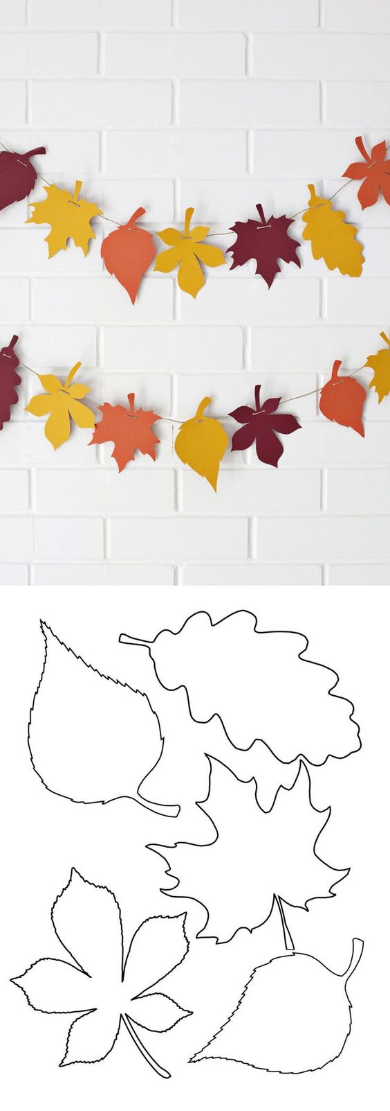 Free leaf template & banner tutorial for a nice #autumn #fall #craft.: