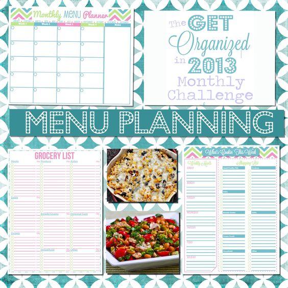 Happy Organized Life: Menu Planning Basics