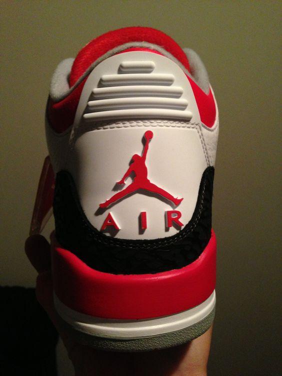 Jordan 3 fire red!
