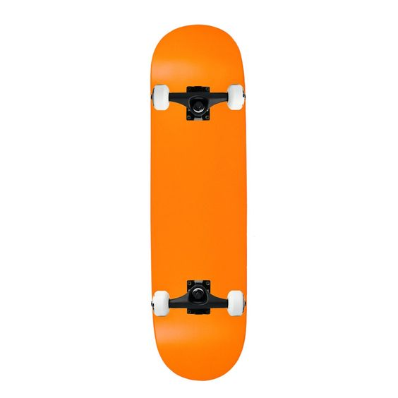 "Moose Complete Skateboard NEON ORANGE 8.0"" Black/White ASSEMBLED. Brand New, In Shrink. Core Trucks. 52mm TGM Wheels. Amphetamine Abec 5 Bearings. Black Diamond Griptape."