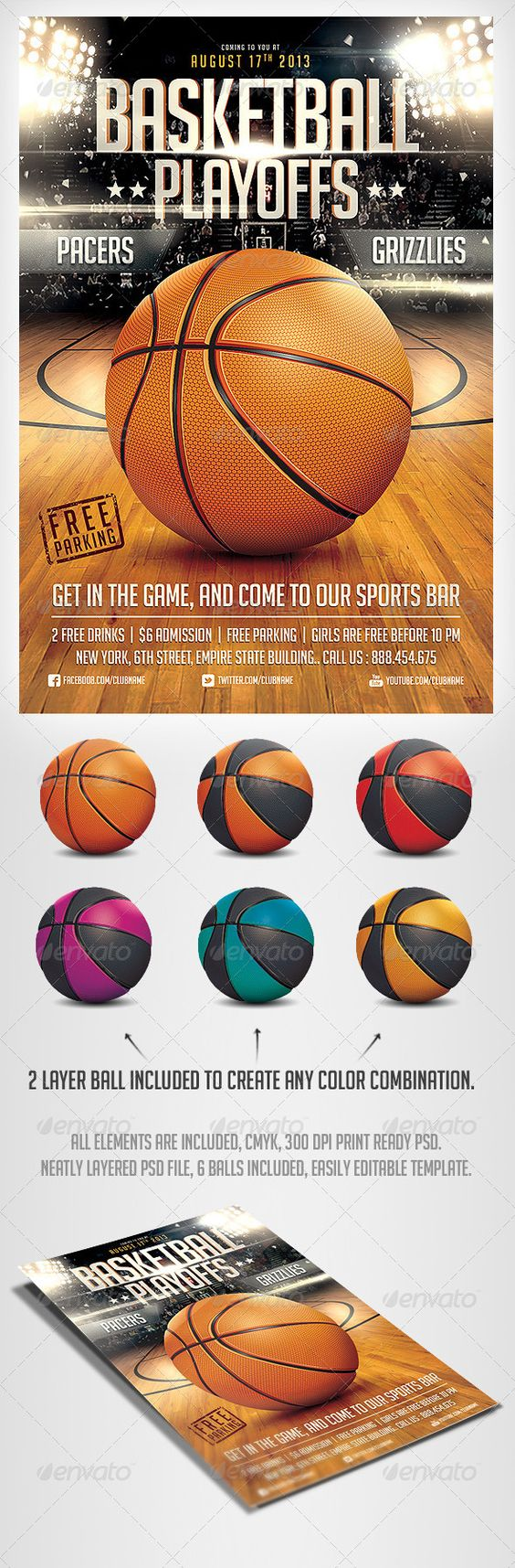BasketBall Game Flyer Template – Sports Flyers Templates