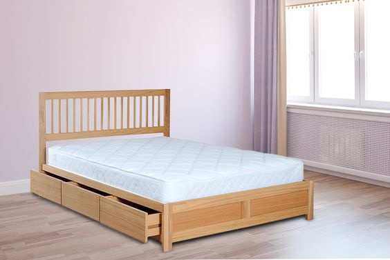 Double Wooden Storage Bed Mattress Wowcha Pinterest Beds