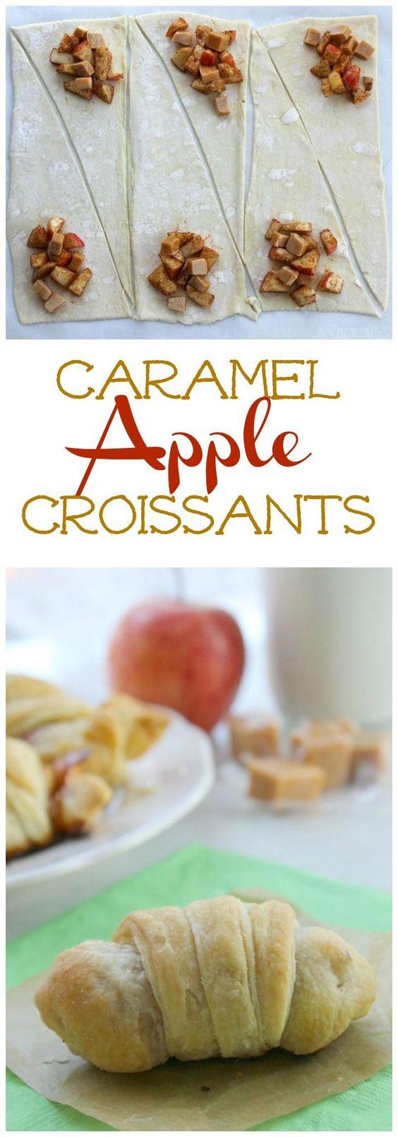 Caramel Apple Croissants   The Bitter Side of Sweet
