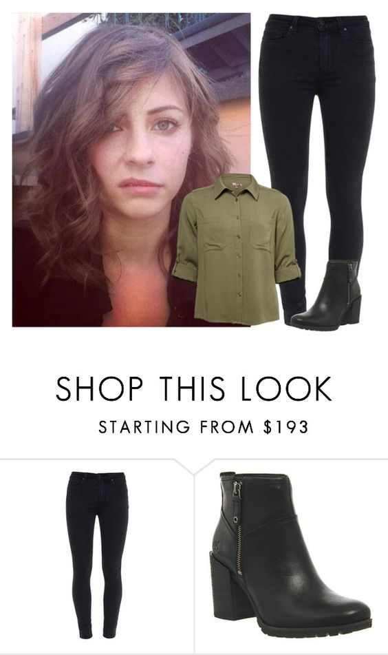 """""""- writes: got a hair cut! -"""" by the-infinite-anons ❤ liked on Polyvore featuring Paige Denim and Timberland"""