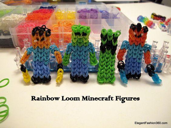 rainbow loom minecraft