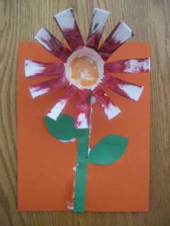 paper cup flowers for spring!: Spring Flower, Preschool Spring, Eric Carle