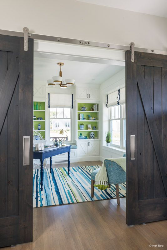 Looking To Close Off Two Large Rooms Adding Two Barn Doors On The Same Track To Cover A Large Space Home Doors Interior Barn Doors Sliding