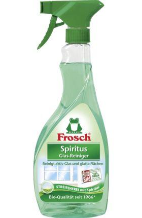 Frosch Spiritus Glas-Reiniger ist aktiv fettlösend. Er reinigt Glas und glatte Flächen streifenfrei. Spiritus ist ein seit Jahrzehnten bewährter Wirkstoff.