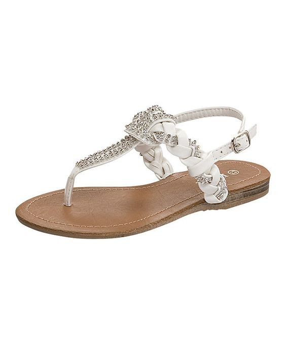 Look what I found on #zulily! Link White Jasmin Sandal by Link #zulilyfinds