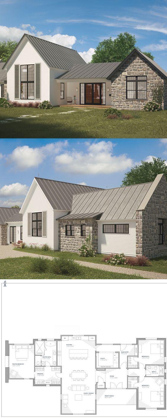 New European Farmhouse Floor Plan With Detached Garage Farmhouse House Plan European Farmhouse Style Farmhouse Design Hayallerinizdeki Ev Ev Planlari Evler