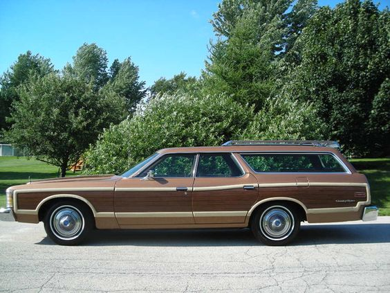 "1973 Ford Country Squire Station Wagon - riding in the ""way back"" with no seatbelts.:"