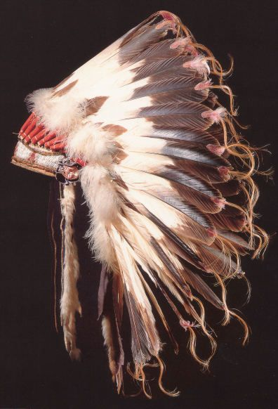 Eagle tail feather Arapaho war bonnet (Chief Yellow Calf)