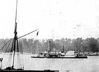 The USS Maria Denning. The steamer that brought the 9th Missouri Infantry home from Shreveport in 1865, at the end of the Civil War.