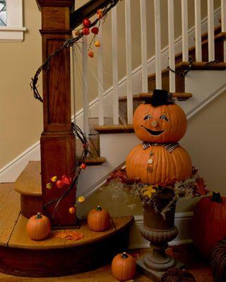Stacked pumpkin man